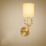GUO YUN Wall Light Full Copper Wall Lamp Living Room Bedroom Bedside Lamp Mirror Single Head Wall Lamp E14