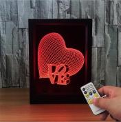 Lh & Fh LOVE European Creative 3D Photo Frame Lamp Acrylic LED Lamp