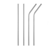 Stainless Steel Straws Reusable Metal Drinking Straws for Coffee Juice and Tea 4pcs