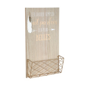 porte-courrier Feathers White Wooden