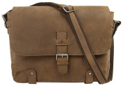 LandLeder Messenger Bag Shoulder Bag Brown Smooth Leather Shoulder Bag