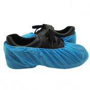 Union Tesco 100 Pcs Premium Disposable Shoe Covers / Overshoes. Strong Floor, Carpet, Shoe Protectors CPE . Medium to Heavy Use