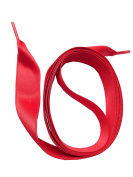 SNORS - SATIN Shoelaces - SATIN LACES RED ca. 16mm, Replacement shoelaces strings SATEEN