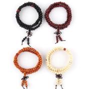 Zhichengbosi Mens Womens Sandalwood Buddhist 108 Beads Bracelet
