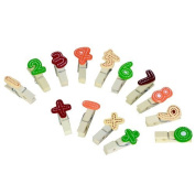 Anne as Colourful Wooden Number Photo Clips Clothes Pins 14pcs