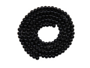 STRING OF 100 ROUND BEADS 8 MM GLASS NACREES BLACK