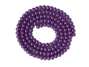 Strand Of 100 Synthetic nacrees Aspect Purple Round Beads 8 mm