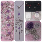 Make your own dream catcher 8 pendant necklace gemstone Berties Beads Style Kit with pliers