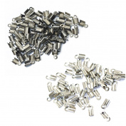 Baosity 200pcs Fold Over Cord Crimp End of Cord Crimps End Caps Cord Bracelet 10x4.5mm
