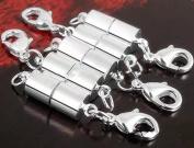 RICISUNG 5 X Silver Tone Magnetic Necklace Clasp Converter