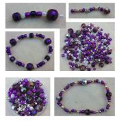 Berties beads purple bead kit with instructions