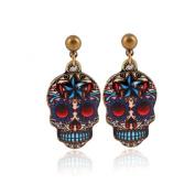 Zhichengbosi Vintage earring Studs Button Skull Shape Earrings Jewellery Piercing Ear Ring