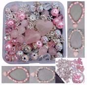 Berties Beads New Rose Quartz Bead Kit to make Iced Rose & Unconditional Love Bracelets
