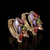 Fashion zircon earring Studs Leaf Shape Crystal Earrings Earring Jewellery Piercing ring studs