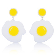 Funny egg shape earring studs creative big ring studs jewellery piercing spring style