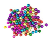 Zhichengbosi 100pcs Fashion Colourful Jingle Bell/ Small Bell/ Mini Bell for DIY Bracelet Anklets Necklace Knitting/Jewellery Making
