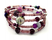 Memory Wire Bracelet Jewellery Making Kit Purple with Instructions K0033
