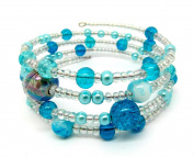 Memory Wire Bracelet Jewellery Making Kit Turquoise with Instructions K0008