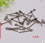 Vasyle 50pc diy jewellery accessories 9 word needle nine needle handmade bead connecting pin hairpin bead pin