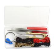 DIY Jewellery Making Tool Scissors Tweezers Beaded Tool Strings Kit for Jewellery Making Beads Embroidery Crafting
