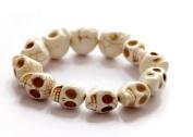 PriMI Vintage Punk Style Bracelet Carved Stone Gothic Skull Jewellery Bracelet