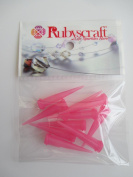 10pcs Bright Pink 25g plastic Lock tip Nozzle for Luer Lock Syringe Craft Glue glaze Ideal for E6000 Bling my shoes Trademark UK00003085705