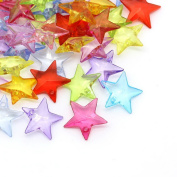 Nalmatoionme Approx.100pcs Mixed Acrylic Star Starfish Charm Beads Pendants For DIY Crafts Accessories