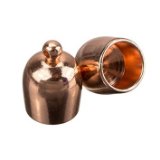 Large Copper Plated Bullet Kumihimo Cord End Cap 8mm