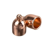 Copper Plated Bullet Shaped Glue In Cord End Cap 6mm