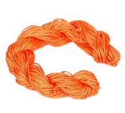 Bigood 27m 1mm Chinese Knot Shamballa Nylon Necklace Braided Cord Beading String Orange B