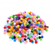 FITYLE 500 Pieces Multicolor Felt Balls Pompom Balls For DIY Crafts Sewing on Clothing Party Decoration 15mm