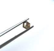 1 Pcs OOAK 0.35CTW 4mm Clear Brown Hexagon Shaped Faceted Rose Cut Diamond Cabochon For Ring, DDS512/18