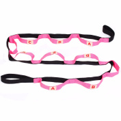 Yoga Strap Belt Yoga Supplies 10 Characters Pull Rope Rally Chest Expander Pilates Body Building Fitness Equipment Tool