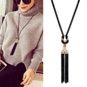 Bodhi2000® Womens Tassel Pendant Long Chain Sweater Necklace Clothing Accessories