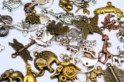 Animal Charm Pendant 48 pcs Antique Silver Bronze Copper Gold Mixed Shape and Size