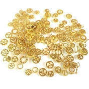 Small gear 120 pieces Resin encapsulating material Gold 20 g Charm