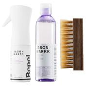 Jason Markk Men's Premium Cleaner, Repel Spray and Shoe Brush (Combo) White