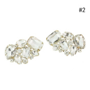 Flying Light Crystal Shoe Clips Buckle Accessories Wedding Shoes Decoration