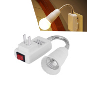 Lampholders E27 Lamp Bulbs Adapter Converter Flexible Extension Holder With Switch