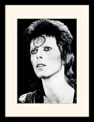 "David Bowie ""Portrait"" Mounted and Framed Print, Multi-Colour, 30 x 40 cm"