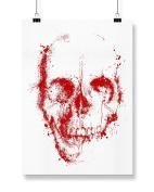 Hippowarehouse Blood Skull Splatter printed poster wall art wall design A3