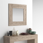 Mobilifiver Square wall-mounted mirror, Evolution, Oak, 73 x 2 x 73 cm, Made in Italy