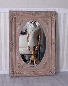 Shabby Chic Mirror Powder Wall Mirror Rococo Glamour Mirror Oval Antique Palazzo Exclusive