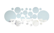 Silver 1 Set Acrylic Mirror Best Wall Stickers 3D Diy Pattern for Living Room Bed Room 26 Pcs