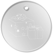 11 x 34mm 'Christmas Presents' Clear Pendants / Charms