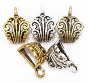 FENGLANG 20pcs Silver/Gold/Bronze Crown Metal Connectors for Charm Bracelet