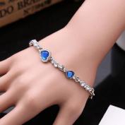 yipinco7285 Ladies Jewellery Bracelet Titanic Inspired Heart of Ocean Pendant Bangle
