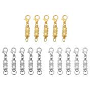 15PCS Alloy Magnetic Lobster Clasps for Jewellery Necklace Bracelet Connectors 34mm