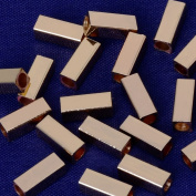3x8mm brass cube slippy Spacer Beads,Spacer Connectors,spacer metal beads,sold 20pcs/lot,kc gold