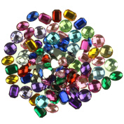 120 Large Acrylic Jewels Gems for Kids Collage & Card Making Children's Arts and Crafts Embellishment